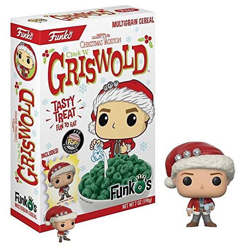 Funko Clark Griswold Cereal - National Lampoon's Christmas Vacation Multigrain Breakfast Cereal with Pocket Pop Figure - FYE Exclusive