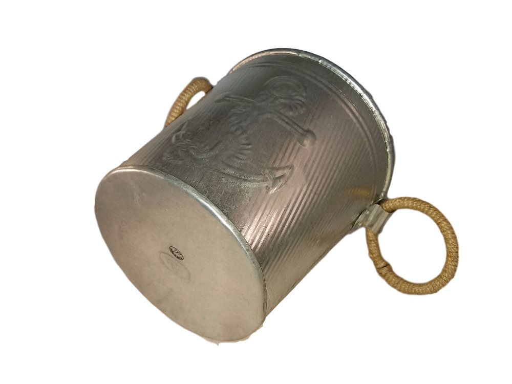 Galvanized Metal Ice Bucket for Drinks or Planter Pail with Rope Handles by KINDWER (Image #6)