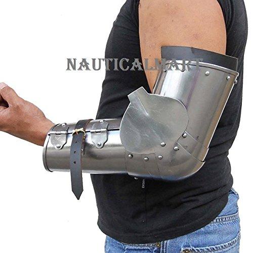 NAUTICALMART Late 14th Century Calvary 18g Medieval Arm Guard Armor Costume