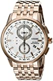 Citizen Men's World Chronograph A-T AT8113-55A Wrist Watches, White Dial