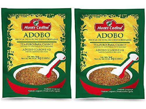 Amazon Com Monte Cudine Adobo Mezcla De Especias Deshidratadas 2 Pack 50 Gr C U Seasoning Mix Of Dehydrated Spices 2 Pack 1 76 Oz Each Grocery Gourmet Food