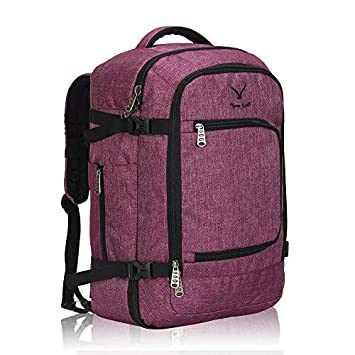 57faefb63 Amazon.com | Hynes Eagle Travel Backpack 40L Flight Approved Carry on  Backpack Red Violet 2017 | Casual Daypacks