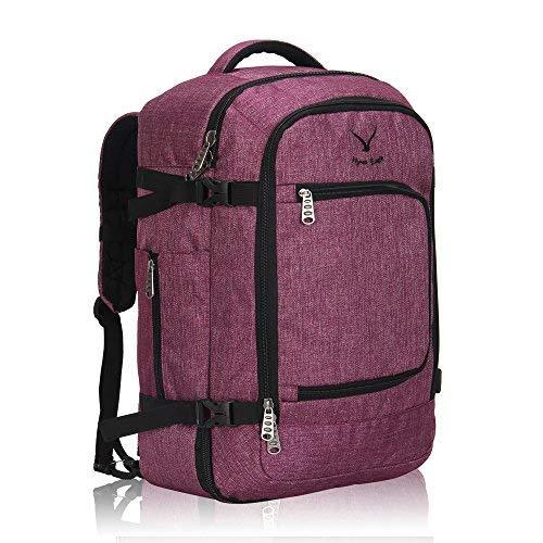 Hynes Eagle Travel Backpack 40L Flight Approved Carry on Backpack Red Violet 2017