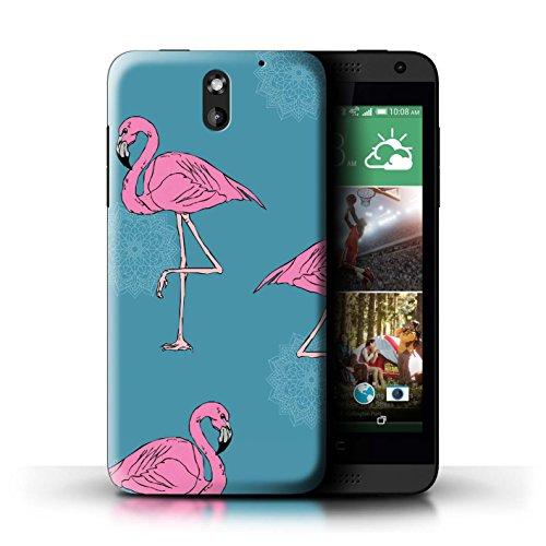 STUFF4 Phone Case/Cover for HTC Desire 610/Mandala/Teal Design/Cute Flamingo Cartoon - Desire Cases Teal Htc 610 For