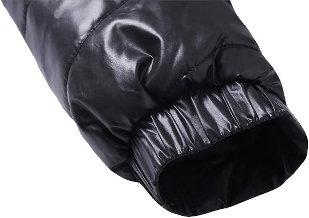OEAK Mens Lightweight Stand Collar Winter Cotton Padded Jacket