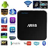 AKASO M8S 4K Android TV Box with Amlogic S812 Quad Core, 2GB RAM, 8GB Flash, Fully Loaded KODI With Octa-core GPU, HDMI Dual Band Wifi 2.4GHz 5GHz Bluetooth 4.0 Streaming Media Player