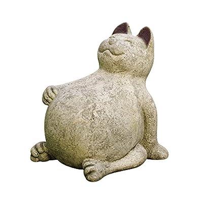 Volcanic Ash Lucky Cat Indoor Outdoor Garden Stone Sculpture 9L x 7-1/2W x 9-1/2H : Garden & Outdoor