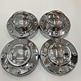 PPCovers New Chrome Center Caps Set for 2011-2016 Dodge Ram 3500 1-TON Dually DRW Alcoa Alloy Wheel 2 Front and 2 Rear