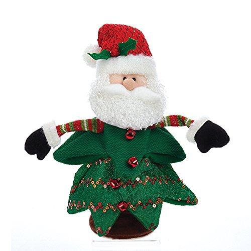 Kurt Adler Battery Operated Singing And Turning Santa in Christmas Tree Decoration