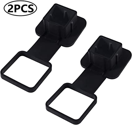 Sturdy Rubber Receiver Tube Hitch Plug Tow Receiver Tube Plug Cap Fits to 2 Tow Hitch Receiver for Toyota Trailer Hitch Cover