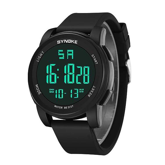 Bestow Reloj Militar sin Hilos Multiusos de los Deportes de SYNOKE de los Hombres al Aire Libre Reloj Electršnico Impermeable del (Negro): Amazon.es: Ropa y ...