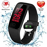 Waterproof Fitness Tracker Watch with Heart Rate and Blood Pressure Monitor, Color Screen Activity Tracker for Women&Men