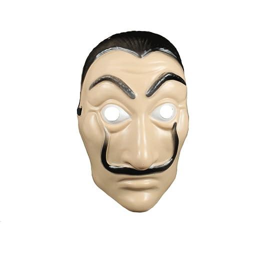 Kigcos Salvador Dali La Casa De Papel Realistic Mask for Halloween (ABS Maks)