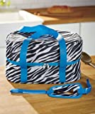 SLOW COOKER INSULATED CARRIER ZEBRA UP TO 6 QTS W/DOUBLE ZIPPER CLOSURE