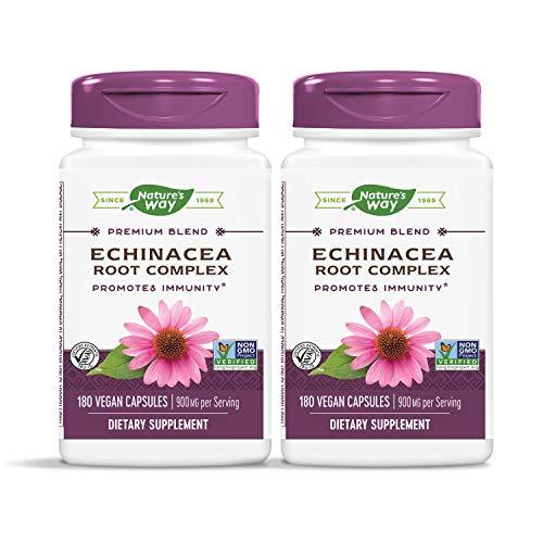 Nature s Way Echinacea Root Complex 450 mg per capsule, 180 Vegetarian Capsules, Pack of 2
