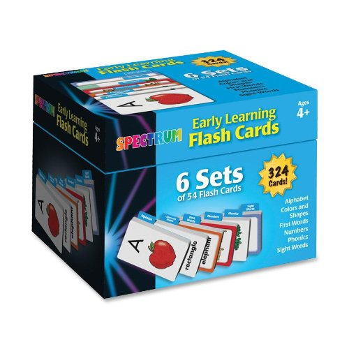 Carson-Dellosa Early Learning Flash Cards: 6 Sets of 54 Flash Card (744085)