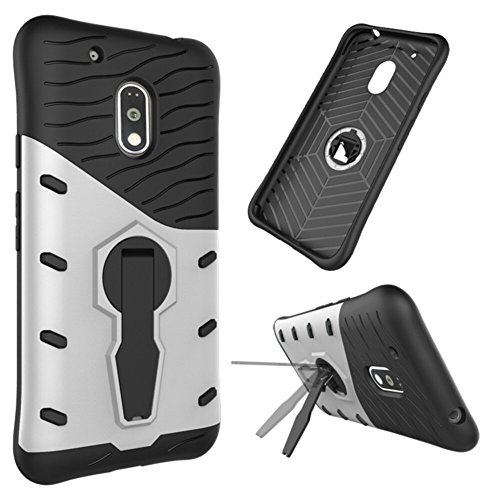 Anti-Fall Armor Phone Case for Moto G4 Play(Black) - 9