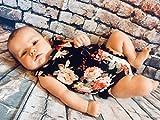 BOBORA Baby Girl Romper With Headband, Sleeveless