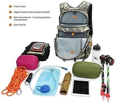 Trekking Monta/ñismo Mardingtop 28//35L Mochila T/áctica Militar Mochila de Asalto Molle Mochilas de Senderismo Unisex para Excursionismo Camping