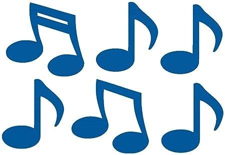 Notas musicales pared Tatoo Música 6 unidades), azul genciana (098 ...