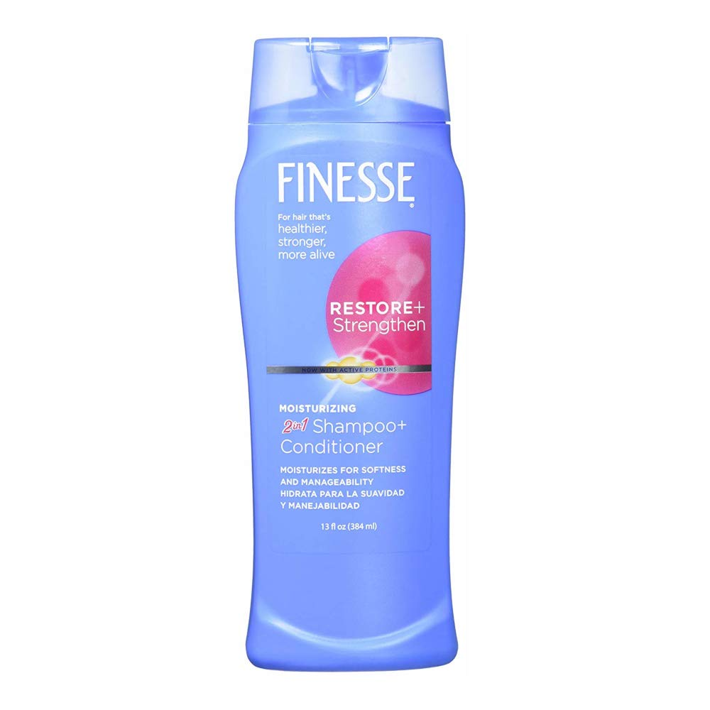 Finesse 2 in 1 Moisturizing Shampoo & Conditioner, 13 Ounces Each (Value Pack of 3) by