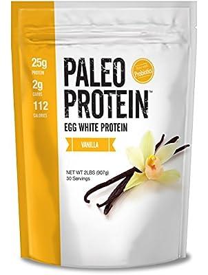 Paleo Protein Powder Vanilla (Egg Whites) (2lbs) (Soy Free) w/Monk Fruit