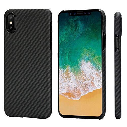 new product d530a a5068 PITAKA iPhone X Case, Magcase Aramid Fiber, Slim Fit Ultra Thin(0.03in)  Super Light(0.49oz) -Black/Grey(Twill)(Renewed)