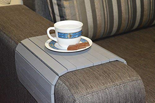 Terrific Sofa Arm Tray Table Flexible With 2 Cup Holders Home Decore Spiritservingveterans Wood Chair Design Ideas Spiritservingveteransorg