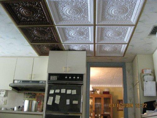 Drop Ceiling Tile Glue Amp Grid 0vc 2 Faux Antique Copper