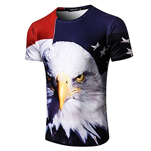 (Independence Day Short Sleeve for Men, MmNote Cool Quick Active Performance Sports Elastic Premium Self-Cultivation T-Shirt)