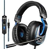 Cuffie Gaming, Sades R4 Cuffia PS4 Xbox One con Microfono Noise Cancelling Stereo Bass 3.5mm per PC Portatili Mac Tablet iPad iPod e Smart Phone