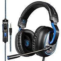 Micro Casque Gaming PS4, Sades R4 Casque Gamer avec Contrôle Volume Premium Anti Bruit Audio Stéréo Basse Compatible pour PC Xbox One Laptop Tablette et Tous les Smartphone