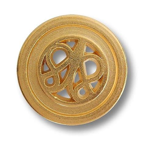 Botón Paradies (0426mg (8 Unidades, Precioso Metal Botones ...