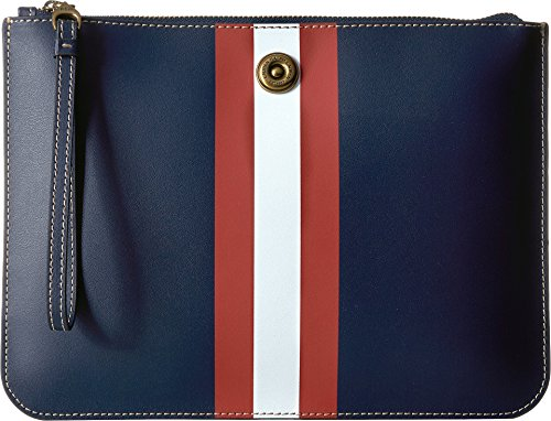 LAUREN Ralph Lauren Women's Everything Large Pouch Navy/Red/White/Red Stripe One Size