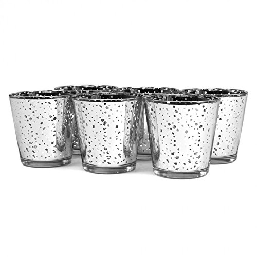 Koyal Wholesale 6-Pack Antique Votive Cup, 3-Inch, Silver Antique Silver Tableware