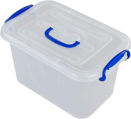 Fosly Cajas Transparente de Plástico, Caja de Almacenaje con Tapas ...