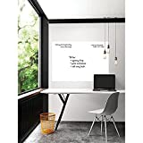 Wall Decal,Chalkboard Wall Sticker, Hcbyae DIY Vinyl Chalkboard Removable Whiteboard Wall Sticker Decal PVC Wall Decal Self Adhesive DIY Reusable Erasable Restaurant Home Office (White)