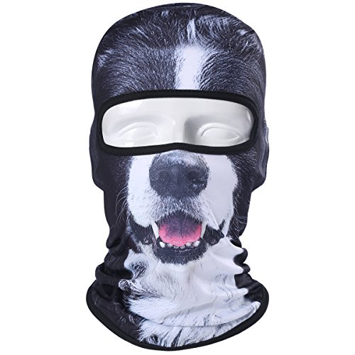 (WTACTFUL Animal Balaclava Face Mask Breathable Wind Dust UV Helmet Liner Protection Skiing Snowboard Snowmobile Cycling Motorcycle Driving Riding Biking Fishing Hunting Music Festival Halloween BNB117)