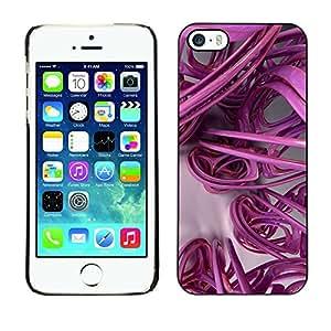 Estuche Cubierta Shell Smartphone estuche protector duro para el teléfono móvil Caso Apple Iphone 5 / 5S / CECELL Phone case / / 3D Lines Abstract Plastic Art /