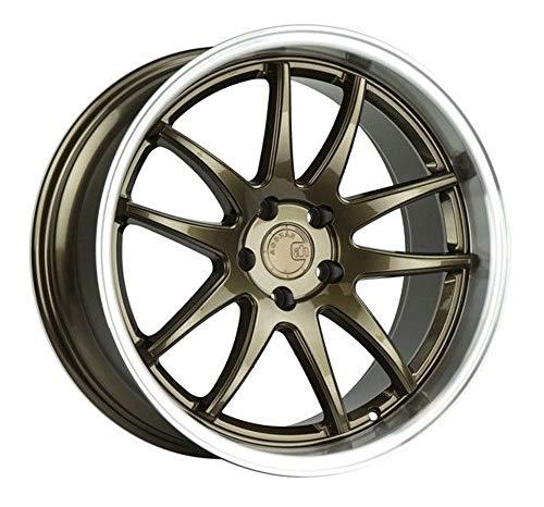 (Aodhan Wheels DS-02: 18x8.5, 5x114.3, 73.1, 35, (Bronze w/Machined Lip))