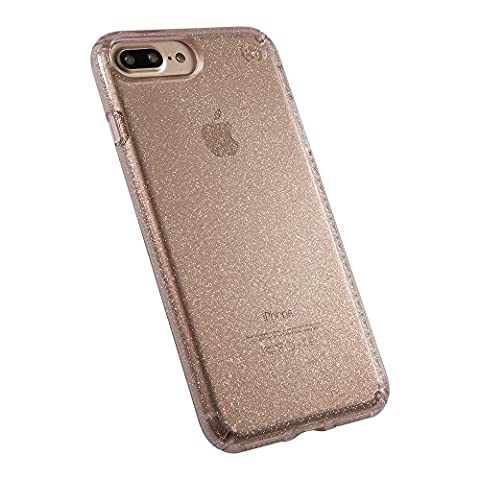 Speck Products Presidio Clear+Glitter Case for iPhone 7 Plus, iPhone 6 Plus/6S Plus - Gold Glitter/Rose Pink (Iphone 6 Speck Clear Case)