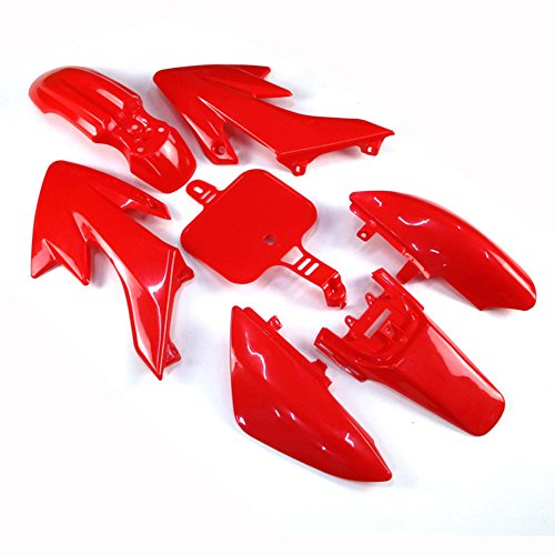 TC-Motor Red Plastic Fender Fairing Kit For Honda XR CRF XR50 CRF50 50cc 70cc 90cc 110cc 125cc 140cc 150cc 160cc Dirt Pit Bike Piranha SSR Thumpsta Stomp Coolster Pitsterpro Braaap SDG -  CRF50-red