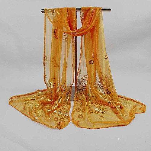 Femmes Aimee7 Orange Mode Automne Élégant De Écharpe Châles Paon Fleur Doux Foulards ggq5rF