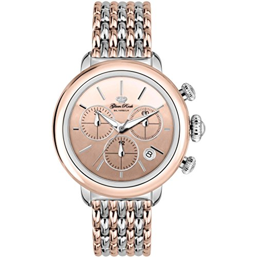 Glam Rock Women's Bal Harbour 40mm Two Tone Steel Bracelet Steel Case Swiss Quartz Analog Watch GR77118N
