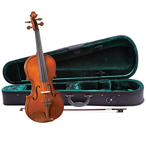 Cremona SV-140 Premier Novice Violin Outfit Full Size, Flamed Wood, Boxwood Fittings, Prelude Strings