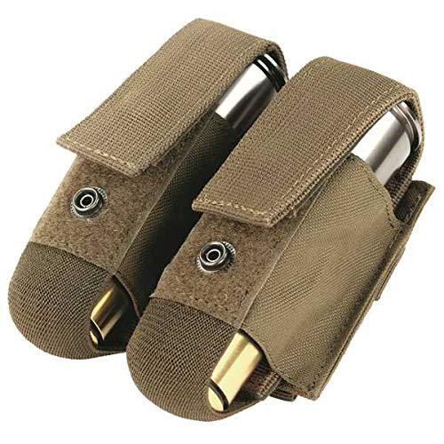 Molle 40mm Grenade - Condor Double 40mm Grenade Pouch - Coyote - MA13-498 - New - MOLLE PALS