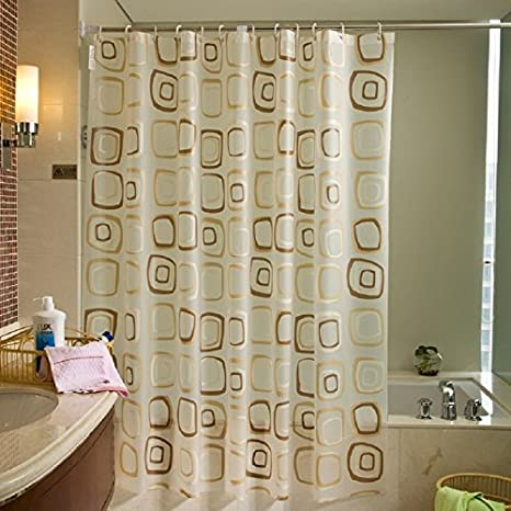 Amazon.com: Welwo Shower Curtains, Liners, Sets with Hooks&Rings ...