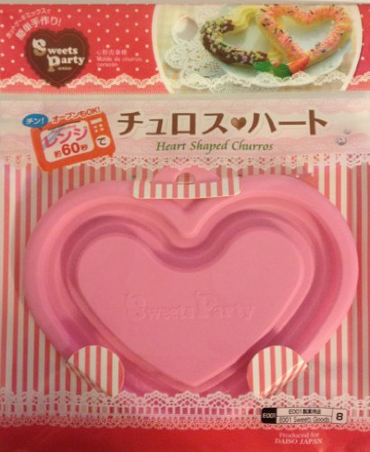 Japanese Microwave Heart Shaped Churro Maker Pan for Bento