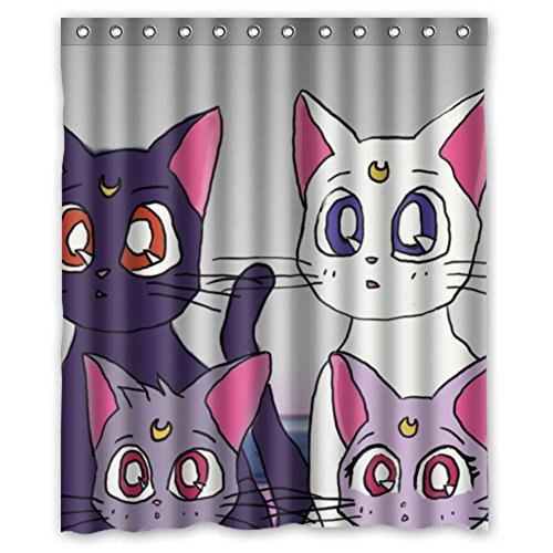 [MOLD & MILDEW RESISTANT & Halloween Costume Personalized Custome Custome Sailor Moon Waterproof Polyester Fabric Bathroom Shower Curtain 60