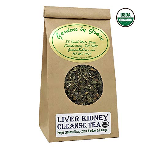 Liver Kidney Colon Bladder Cleanse and Detox Organic Tea | Support Aid, Natural Nutrients Protect, Repair Formula | Amazing Health, Vegan, Loose Leaf, 2 oz